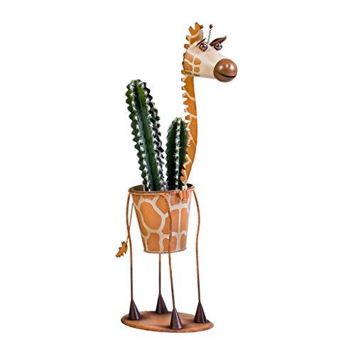 Blumentreppen Blumenrahmen kreative Nordic Schmiedeeisen Tier Giraffe Zebra Boden Blumentopf Blume Hause Wohnzimmer Innenvase Dekoration