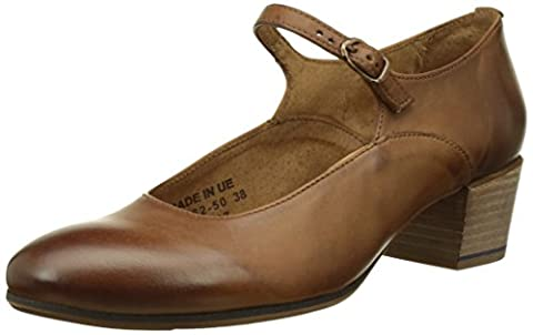 Kickers Frenchie, Escarpins Bout Fermé Femme, Marron (Camel), 37