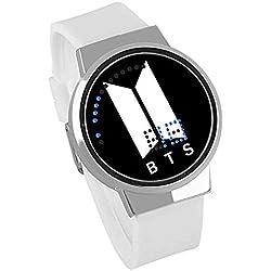 Gooula BTS Reloj de Tiro Deportivo Impermeable LED Reloj de Pantalla táctil para Creativo Estudiante electrónico Reloj para niños y niñas Regalo de Recuerdo Pulsera,5