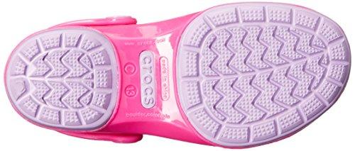 Crocs Carlie Glitter Bow Mary Jane Carlie Glittle Clog (enfant / petit Kid) Neon Magenta/Purple