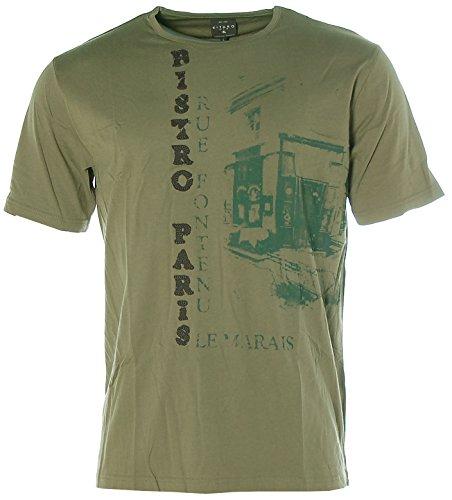 Kitaro Herren T-Shirt -STREET PRINTS- Taupe
