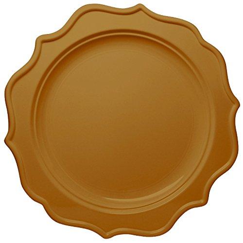 unststoff Einwegteller Gold -Essteller 24cm - Festive Collection - 12 Stück (Weiß Und Gold-kunststoff-platten)