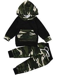 Kobay 2 stücke Kleinkind Jungen Mädchen Kleidung Set Camouflage Hoodie Tops + Hosen Outfits