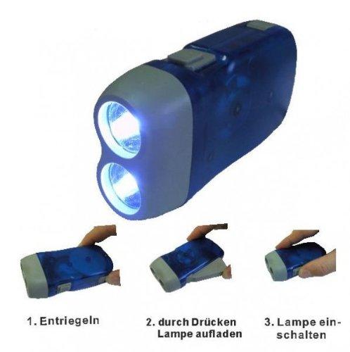 Preisvergleich Produktbild LED Dynamo Handlampe Lampe Leuchte Taschenlampe Campen