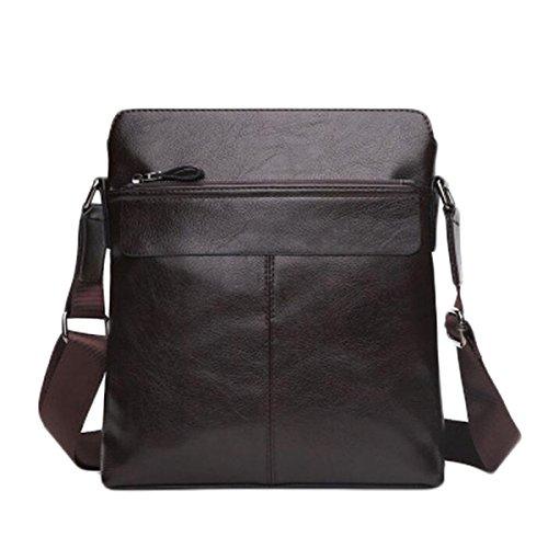 Tracolla In Pelle Da Uomo Messenger Bag Casuale Sacchetto Maschio Borsa Del Computer Cartella Di Affari Sezione Trasversale E