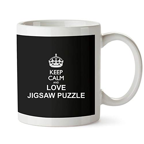 Idakoos Keep Calm and Love Jigsaw Puzzle - Ocio - Taza