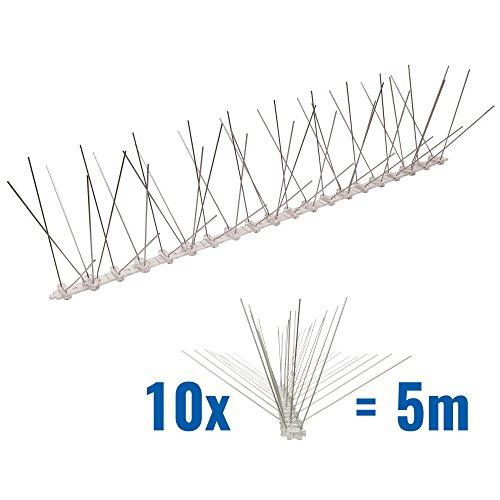 5 metros de Púas antipalomas con base de Policarbonato - 5-hileras de Púas antipalomas la solución de calidad para el control de aves