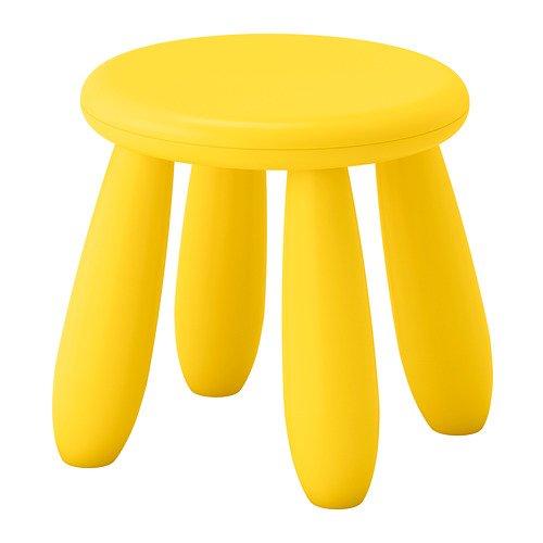 Ikea Mammut Kinderhocker in Gelb; für Drinnen und draußen