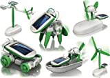 #3: Happy GiftMart 6 in 1 Educational Solar Robot Energy Kit Science School Projects For Kids.