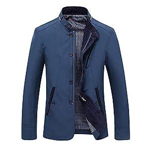 Oasics Winterjacke Herren Langarm Pocket Stehkragen Zip Jacke Jacke Große Größe L-4XL