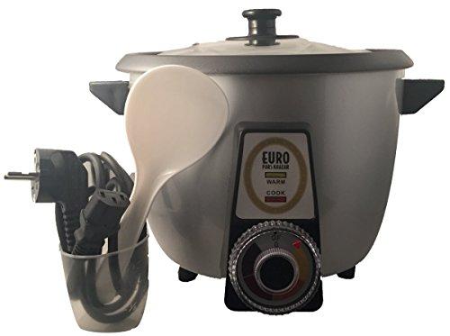Vollautomatischer Reiskocher speziell für Reiskruste oder Reiskuchen Tadig Tahdig geeignet (8-12 Personen, Grau)