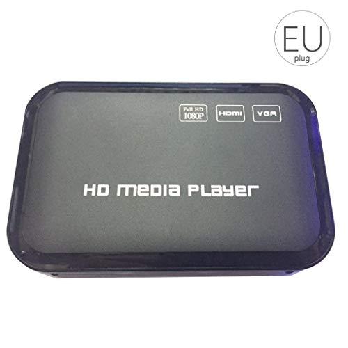 Cdrox Full HD 1080P Media Player-Center Multi Media Video Player HD SD SDHC MMC-Karten USB-Fernbedienung EU-Stecker