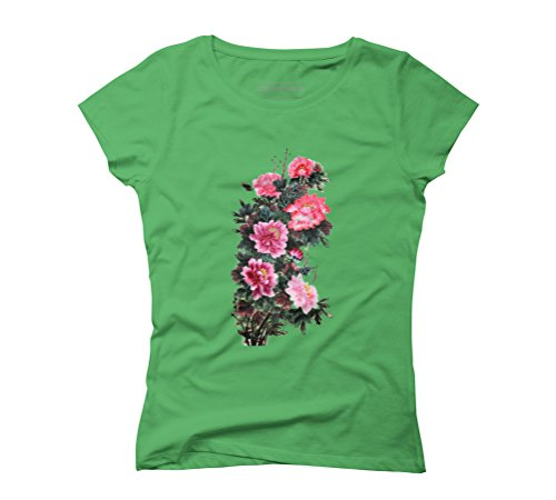 Blossoming Women's Graphic T-Shirt - Design By Humans Green