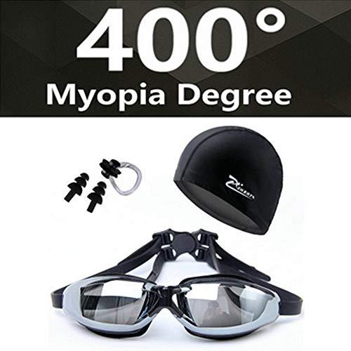 STARKWALL Myopia Schwimmbrille Hd Kurzsichtige Verschreibungspflichtige Brille Acetate Spectacles Beschichtung Der Linse Schwimmen-brille Pool Schwimmen Myopia 400 schwarz