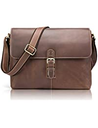 868694899d184 NiceEbag cartella in vera pelle Messenger Bag Uomo Donna Borsa a tracolla  in pelle borsa business Briefcase insegnante per 13