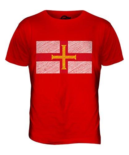 CandyMix Guernsey Kritzelte Flagge Herren T Shirt Rot