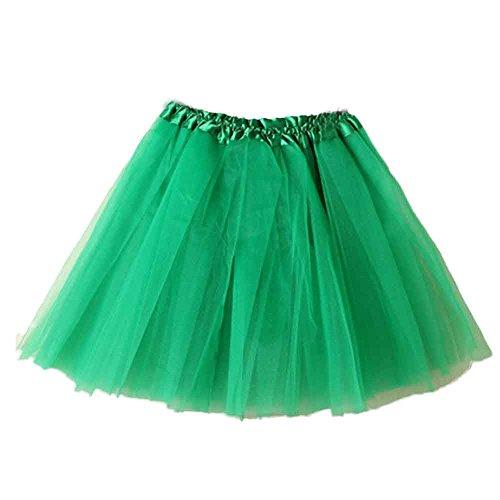 Grünen Tutus - Damen Tütü Mini Ballett Pettiskirt Spitze