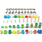 TRULIL - Puzzle de Madera para niños con Forma de Juguete de Montessori, Juego a Juego, logarítmico Digital, educación Intelectual, cognitivo, Gran Regalo para niños y niños