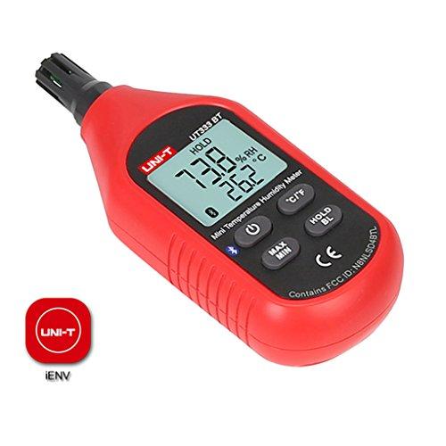 UNI-T UT333BT termometro igrometro Bluetooth Mini Digital LCD di umidità di temperatura misuratore di umidità termometro del sensore Meter Mengonee