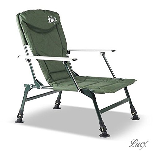 Lucx® Angelstuhl/Karpfenstuhl / Fishing Chair/Arm Chair/Stuhl / Campingstuhl/Gartenstuhl 'Eco Plus' (mit Armlehnen)