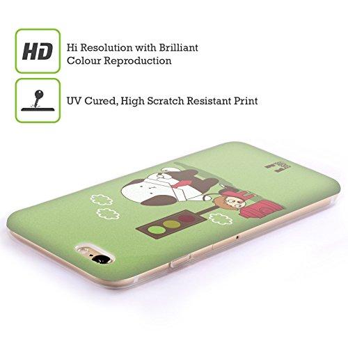 Head Case Designs Snitch Oscar E Howard Nero E Bianco Cover Morbida In Gel Per Apple iPhone 6 Plus / 6s Plus Walking The Human