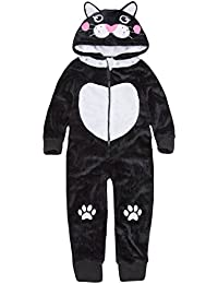 ONEZEE Girls Cat Super Soft Plush Hooded All in One