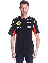 T-Shirt camiseta para hombre de fórmula uno 1 Lotus F1 Team Burn Grosjean negro 2013
