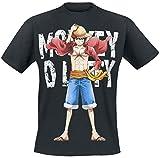 OnePiece Monkey D. Luffy T-Shirt schwarz XL