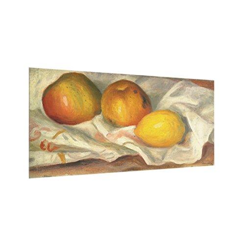 Bilderwelten Spritzschutz Glas - Auguste Renoir - Äpfel und Zitrone - Quer 1:2, 59cm x 120cm