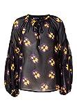 HALLHUBER Georgette-Bluse mit Ballonärmeln weit geschnitten Multicolor, 42