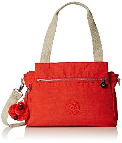 Kipling Damen Elysia Schultertasche, Rot (Coral Rose Combo 05W), 29.5x23x12.5 cm
