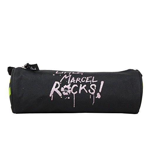 Trousse stylo noir Little Marcel pour fille