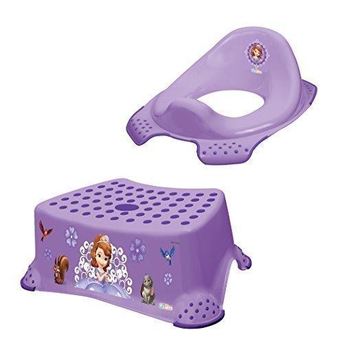 2er Set Disney Prinzessin Sofia die Erste WC Aufsatz + Hocker Toilettentrainer Topf + Waschhandschuh von KiNDERWELT
