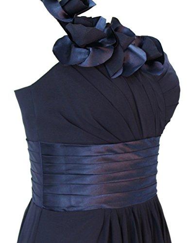 Dresstells, Une épaule robe de soirée, tenue de mariage, robe de cérémonie, robe de demoiselle d'honneur Bleu