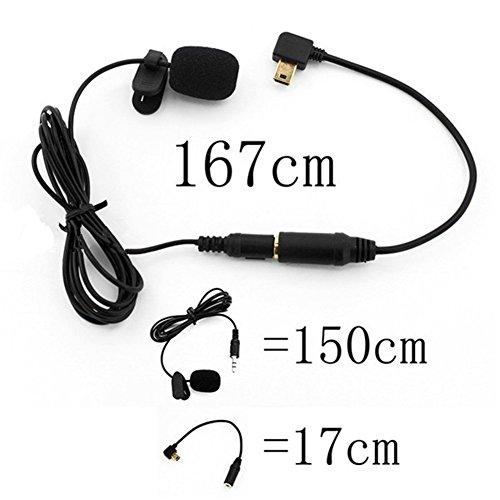 Distinct® 3,5 mm externes Mikrofon Clip auf Mic + Adapter Kabelsatz für GoPro Hero 4 3 + 3