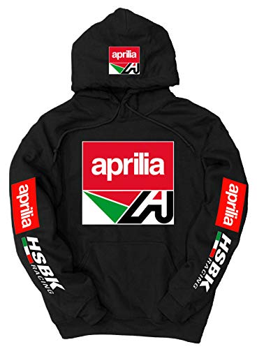 Aprilia Logo Hoodie, Small Black (Chevy-hoodie Camo)