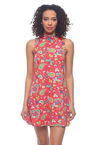 2LUV Damen Kleid Gr. M, Rot, Blau (Tween Dressy Kleider)