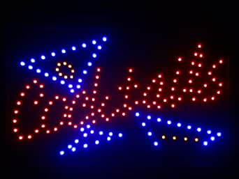 nled040-r Cocktails Bar LED Neon Light Sign (40.6cm x 25.4cm) Neonlicht Lichtwerbung