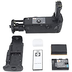 DSTE BG-E11 BGE11 Vertical Battery Grip Holder + wireless remote control + 2pcs LP-E6 LPE6 Li-ion Battery for Canon EOS 5D Mark III 5D3 Digital Camera