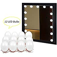 Binen Hollywood Style LED Vanity Mirror Lights Kit Dressing Table Light, Mirror LED Light with Power Supply and Touch Dimmer Switch, 12 LED Bulbs ( Mirror Not Included )
