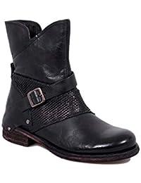 Felmini - Damen Schuhe - Verlieben Verdy B234 - Reißverschluss Stiefel -  Echtes Leder - Schwarz bb9eacd754