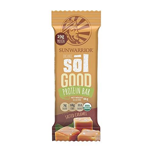Sunwarrior Sol Good Protein Bars Salted Caramel, Organic, 12 Riegel