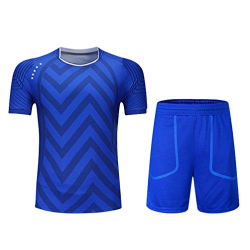 Kuncg Spring-Casual Badminton Tragen Herren und Jungen Schnell Trocknende Benutzerdefinierte Sport Anzug Blau 2XL