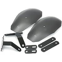 Alamor Motocicleta Mano Guardia Manillar Paramanos Viento Deflector Protector Escudo Para Harley Honda Custom - Transparente