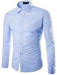 Gdtime Homme Chemise Manches Longues Slim Fit Uni sans Repassage Chemises Casual Classique Business Taille Plus Petite