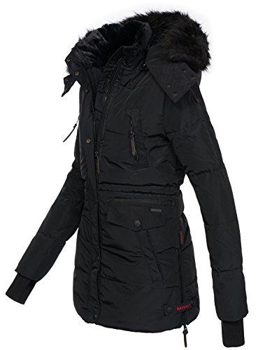 Winterjacke schwarz damen mit fell