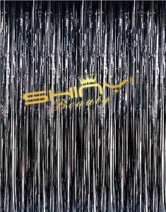 ShinyBeauty Metallic Foil Fringe Backdrop Curtain