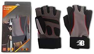 Burn Training Gloves, Small (Black/Brown)