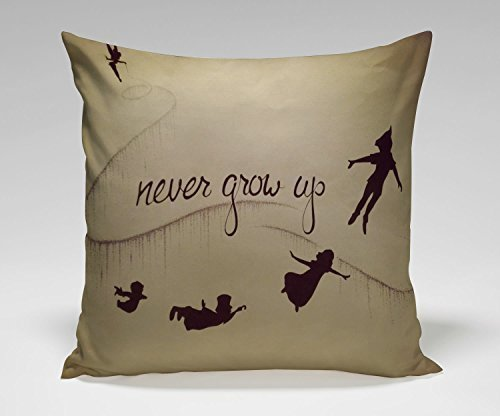 Narnia Maps Peter Pan Poster Pillow Case (18 * 18 inches Two Side) ()
