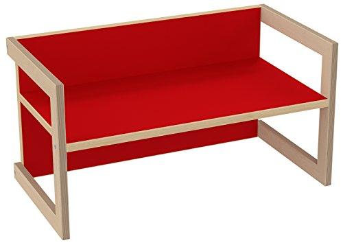 PiHaMi® Kindersitzbank Hannes Birke/Rot in 3 Sitzhöhen
